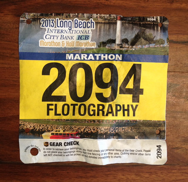 Long Beach Marathon Start Number