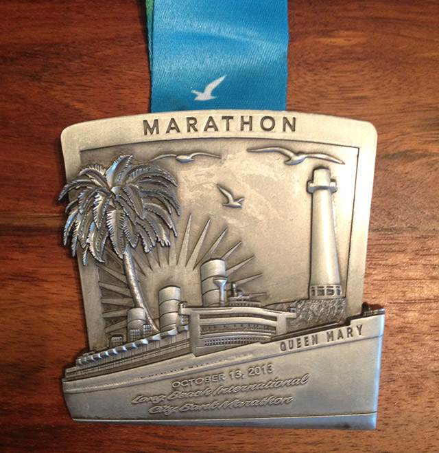 Long Beach Marathon 2013 medal