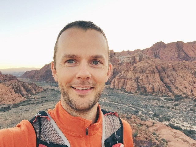 Floris Gierman trail running in Utah